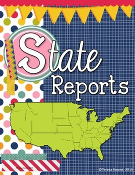 State Report Booklet and Lapbook
