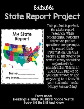 State Report Project (Editable)