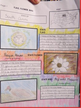 State Report Project for United States Research Study Grade 5