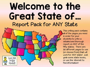 State Report Pages, 25 total pages:  Welcome to the Great State of...