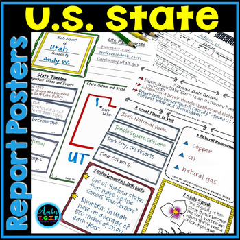 State Report Poster (template) for Intermediate Grades
