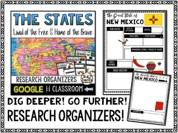 State Report Research Organizers: Google Classroom