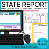 State Report for 4th - 6th Grade | State Research Project