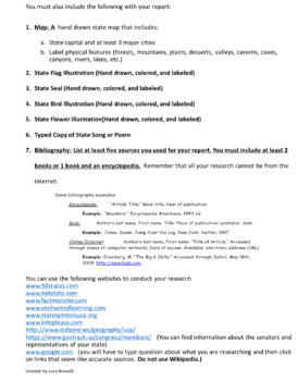 State Report Project Fill-in-the-Blank Template