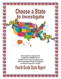 State Report Template CCSS.ELA-LITERACY.W.4.7