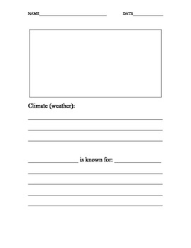State Report Worksheet