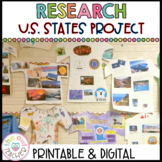 U.S. State Research and Writing Project