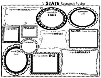 State Research Activity: State Graphic Organizer