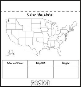 State Research Flip Book