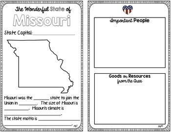 State Research & History Project {Missouri}