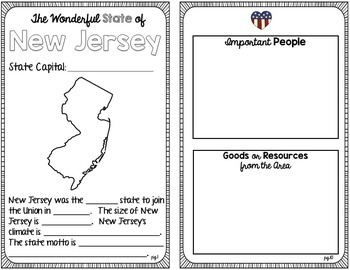 State Research & History Project {New Jersey}