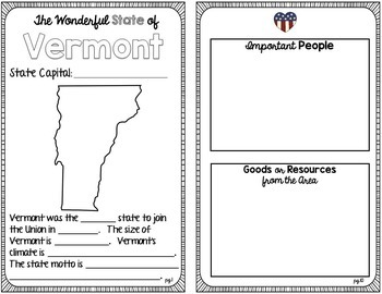 State Research & History Project {Vermont}