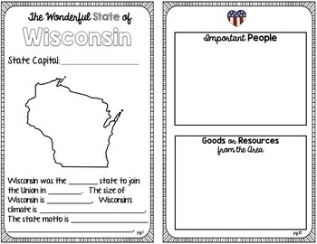 State Research & History Project {Wisconsin}