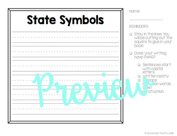 State Research & Informational Writing Templates (for Target Dollar Spot books)