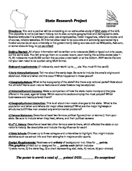 State Research Poster Project