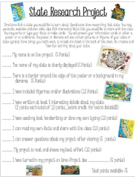 State Research Poster or Diorama Project: Perfect for Gifted Enrichment!