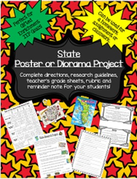 State Research Poster or Diorama Project: Perfect for Gift