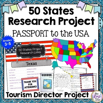 State Research Report - A Fun 50 States Project and Passport to the USA Project