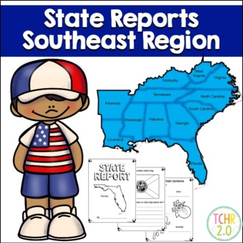 Southeast Region State Research Bundle By Tchr Two Point 0 Tpt