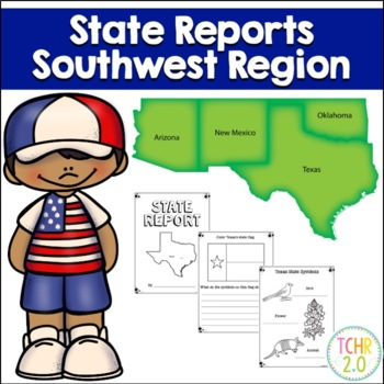Southwest Region State Research Bundle by TCHR Two Point 0 | TpT