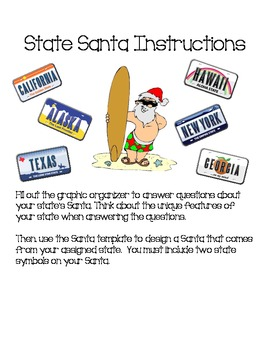State Santa Project - Geography, Holidays, State Facts