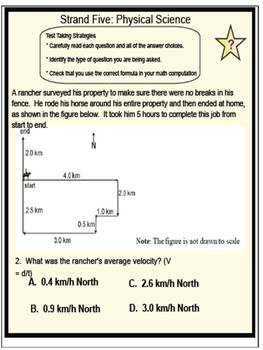 State Science Test Spiral Review Bell Work