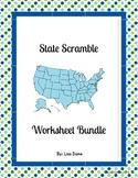 State Scramble Worksheet Bundle