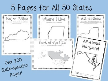 State Scrapbook (All 50 States Included!!)
