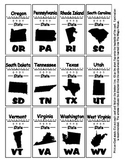 State Shadow Abbreviation Magic House Cards - Geography Ce
