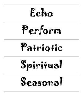 State Standard Music Vocabulary