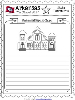 Arkansas State Study Notebooking Pages
