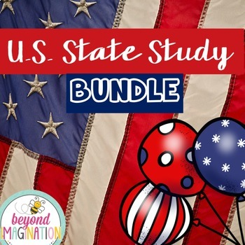 US State Study Bundle | 560 Pages for Differentiated Learn