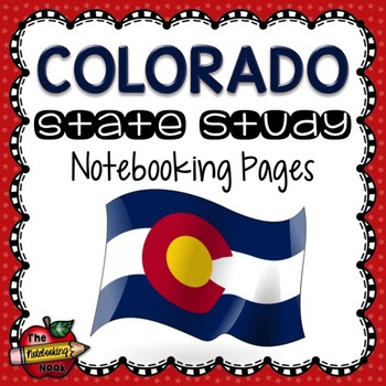 Colorado State Study Notebooking Pages