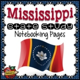 Mississippi State Study Notebooking Pages