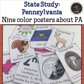 Pennsylvania State Study Flap Book with Posters and Projects