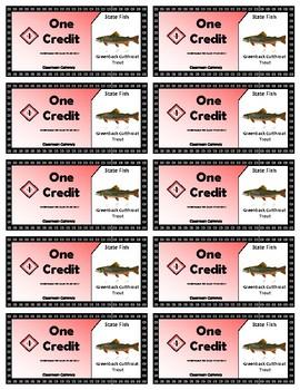 State Symbols Classroom Currency (Colorado)