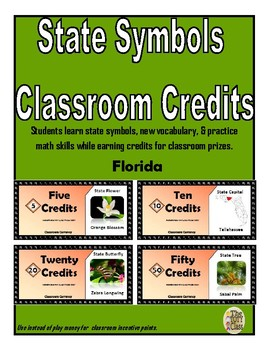 State Symbols Classroom Currency (Florida)