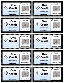 State Symbols Classroom Currency (Michigan)