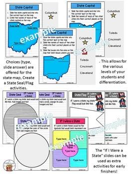 Ohio State Symbols Interactive Notebook (Digital)