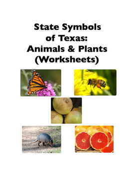 State Symbols of Texas: Animals and Plants (Worksheets)