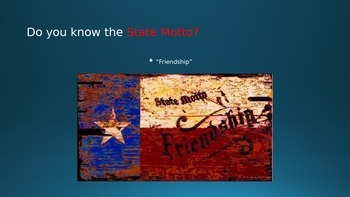 State Symbols of Texas PowerPoint