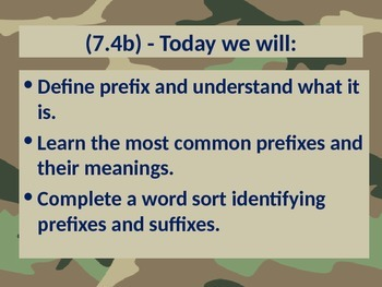 State Test Bootcamp: Prefixes/Suffixes