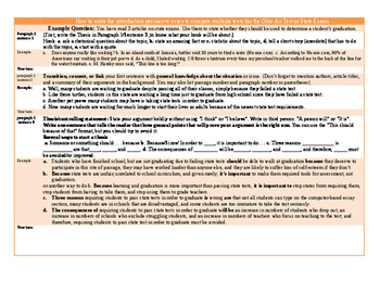 State Test/Ohio Air Test Essay Samples and Outline