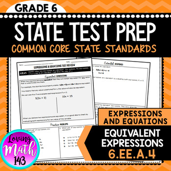 State Test Prep: Expressions & Equations - Equivalent Expressions