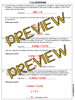 State Test Prep: Expressions & Equations - Writing & Solving Equations