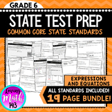 State Test Prep: Expressions and Equations BUNDLE!