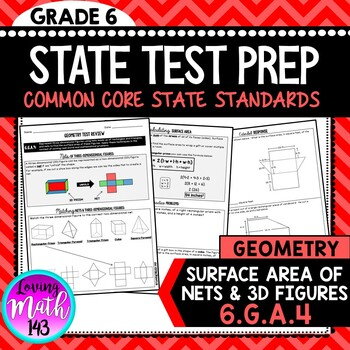 State Test Prep: Geometry - Surface Area & Nets (Grade 6)