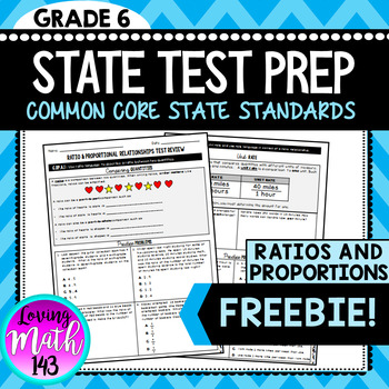 State Test Prep: Ratios & Proportions FREEBIE!