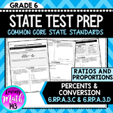 State Test Prep: Ratios & Proportions - Percent & Conversions