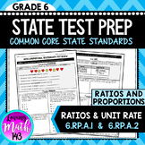Ratios and Unit rate: 6th Grade Math State Test Prep